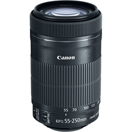 Canon EF-S 55-250mm f/4-5.6 IS STM Lens (Color Box)