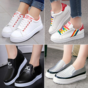 Women Fashion Sports Shoes Canvas Shoes Lady Luxury Shoes Ladies High-heeled Sneakers