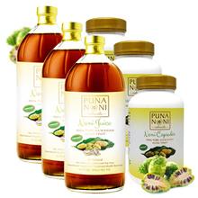 Set of 3 / Ponanoni 100% juice concentrate 946ml / 100 capsules capsule