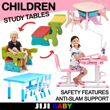 KIDS TABLE! Children Study table ★Adjustable ★Foldable ★Space Saver ★Movable ★Safe ★Baby ★Organizer