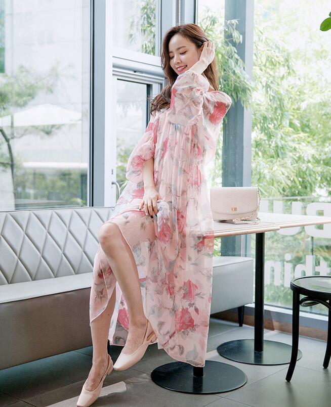 レディース ワンピース ガーター セット 妊婦 マキシ 森ガール 超人気 ドレス