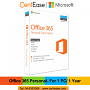 Microsoft Office 365 Personal Subcription English Apac Medialess - 1 User with 1 Year