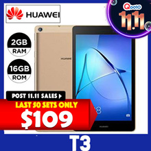 [Post 11.11 Special $109] Huawei Mediapad T3 7-inch/ 3G+WI-FI/Export Set/One month Warranty