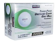 [US Direct] (High Quality) Kirkland Signature 3-Piece Urethane Cover Golf Ball (24 Pack) / Free Ship