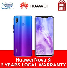Huawei Nova 3i | 128GB (Black/Purple) 2 Year Huawei Singapore Warranty