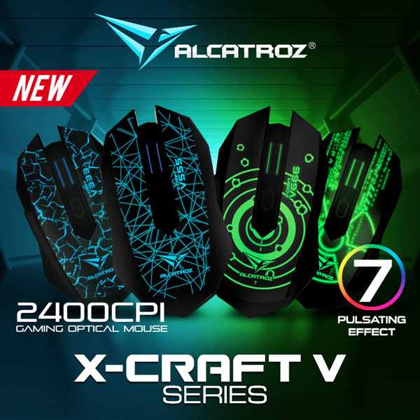New Online Promo! 1 For 1 Alcatroz X-Craft V-Series 2400 CPI Optical Sensor. 6 Buttons Programmable Gaming Mouse. Rubberized Finishing Enhance Grip and Comfort. 24 Months Local Warranty. Deals for only S$22.9 instead of S$0