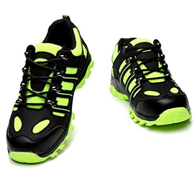 35fba03686b6 SUADEX Steel Toe Shoes Men, Work Shoes, Breathable Safety Shoes, Steel Toe  Boots Men Bright Green