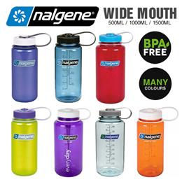 Nalgene Water Bottle / WIDE and NARROW mouth/BPA Free / Small water Bottle - 500ml / 1000ml / 1500ml
