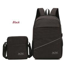 READY STOCK - 2 in 1 Backpack Laptop USB Port + Tas Selempang Joy Start - BL004- NEW SELLER