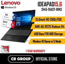 Lenovo IdeaPad S145 15AST AMD 4GB ram 1TB HDD