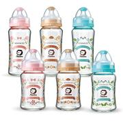 【simba】小獅王 玻璃奶瓶 台灣現貨 蘿蔓晶鑽寬口雙凹 玻璃大奶瓶270ml 小奶瓶180ml