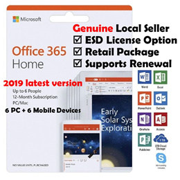 Microsoft Office 365 Home 6 Users (6 PC + 6 mobile devices) 2019 Latest Official
