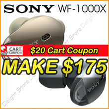 Apply$20 (17~18 Nov)◆SONY WF-1000X Stereo Bluetooth In-Ear Earphones Noise Cancellation
