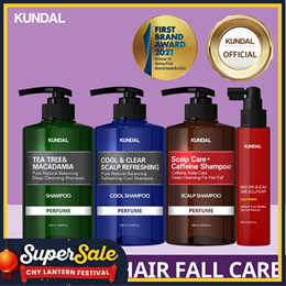 ✨NEW ANTI-HAIR LOSS CARE [KUNDAL] Caffeine Shampoo / Scalp Tonic / Tea Tree Shampoo / Cool Shampoo