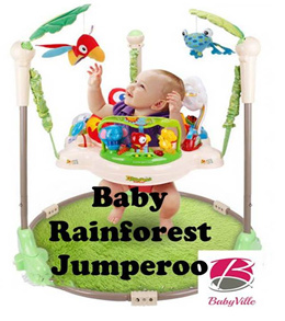Rainforest Jumperoo Baby Jumper Walker Bouncer Activity Seat [FREE DELIVERY+ FREE CARPET]