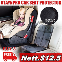 Anti-Slip Car Seat Protector Cover Install Under Baby Infant Safety Seat Omni-directional Durable