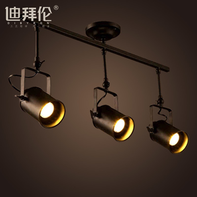 Vintage American Art Simple Track Lighting Industry Creative Living Room Bar And Clothing S Led