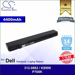 CameronSino Battery for Dell 312-0882 / 312-0883 / 3UR18650F-2-DLL-32 / K875K Battery L-DEP769NB