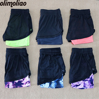 sale Yoga Shorts Women Sport Fitness 2 In 1 Women Athletic Shorts Cool Ladies  Sport Running 948cc69770