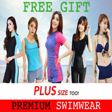 FREE GIFT! *1-3 DAYS DELIVERY* Premium Swimwear Bikini Diving Suit Long Sleeve Rashguard