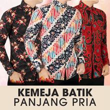 Kemeja Batik Panjang Pria - Premium Slim Fit / Banyak Motif Baru / Best Seller