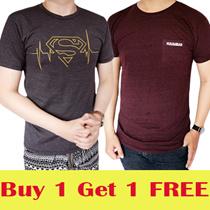 *Beli 1 GRATIS 1* Kaos T Shirt Distro Keren Model Terbaru Fashion Pria Keren Bahan Bagus