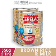 NESTLE CERELAC Brown Rice & Milk Infant Cereal Tin 350g x2 tins