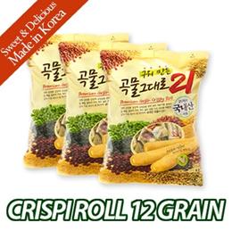 ★CRISPIROLL 12GRAIN 80g x 3p★ Cream Cheese Filling /Non-fried/ healthy snack /child/grain/study