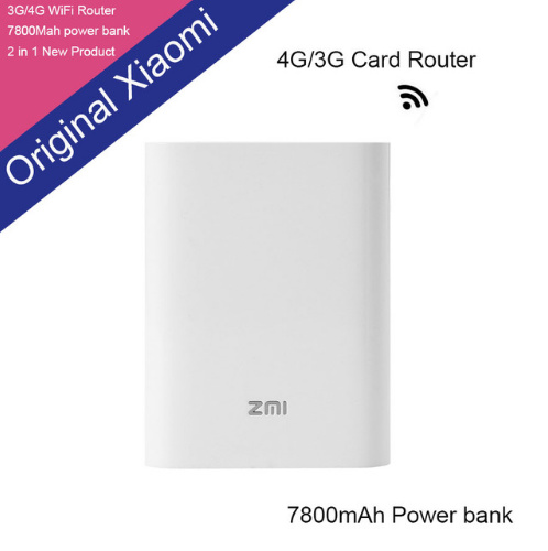 ZMI MF855 4G Wifi Router 7800 mAh Power Bank Wireless wifi repeater 3G4G router