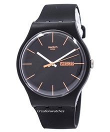 [CreationWatches] Swatch Originals Dark Rebel Swiss Quartz SUOB704 Unisex Watch