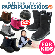 [Paperplanes] Made in Korea ♥Kids Warm WINTER FUR SNOW BOOTS / Fur Boots / Child Winter Shoes♥