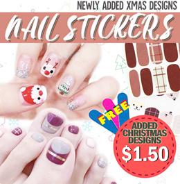 W/FREEBIE💖 High Quality Nail Polish Stickers Sticker Gel Gelish Art | XMAS DESIGNS!