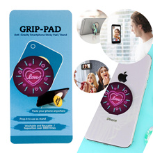 [GRIP PAD ] Anti Gravity Smartphone Sticky Pad / Stand - Compatible with PopSockets - Neon Love
