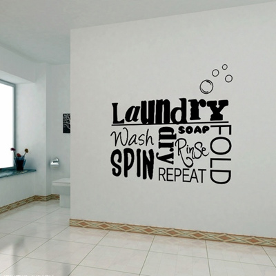 Qoo10 Diy Vinyl Wall Stickers Laundry Room Mural Wall