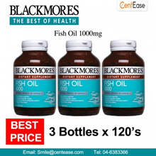 Blackmores Fish Oil 1000mg Dietary Supplement (3 Bottles x 120 S)