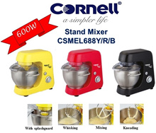 CORNELL STAND MIXER 600W (CSMEL688 YELLOW/RED/BLACK)  - 1 YEAR WARRANTY