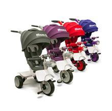 Mom: D Trike Premium Aman Convertible Baby Stroll Roda Tiga Burgundy / Abu-abu / Violet / Anggur