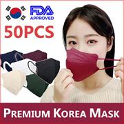 ⭐KOREAN MASK⭐ KF94 Korea 4ply mask 50pcs/Bird beak type /FDA approved / Color Mask / Copper fiber