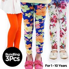 Get 3 Pcs - Kids leggings pants many motifs - Age 1 to 13 Years / Wholesale Price Children Pants