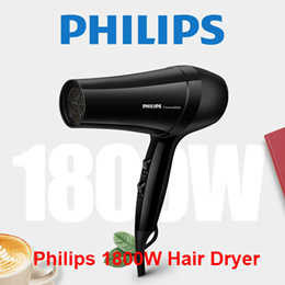Philips Hair Dryer 1800W 6 Speeds Function 57°c ThermoProtect Temperature (BHC020)