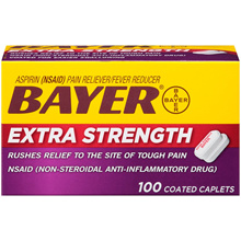 [BAYER] Bayer Aspirin 500mg 100 tablets / Bayer Aspirin / Bayer Extra Strength Aspirin 100 Coated Caplets