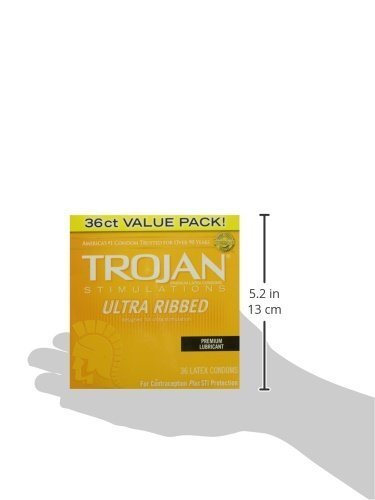 Qoo10 Trojan Condom Stimulations Ultra Ribbed Lubricated