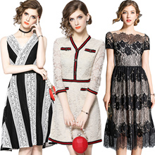 new Promotions  High quality dress elegant dress/European British style/Office dresses/Long