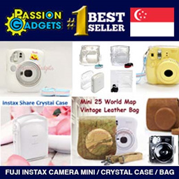 Fuji Instax Camera mini 8 7s 25 50s 55i 25s 210 70 Share SP1 SP2 color casing and bag 7s white