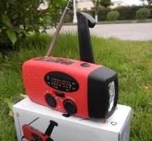 Solar AM/FM Wind up Solar Dynamo Powered Radio& LED Flashlight -Phone Emergency Charger
