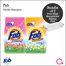 [PnG] FREE BAKING TRAY!【BUNDLE OF 2】FAB Detergent Powder 4.7-5.1KG