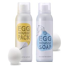 《多多家》韓國正品 Too Cool For School 雞蛋 洗臉慕斯 白滑雞蛋面膜 EGG 泡沫慕斯 潔面慕斯 泡沫潤膚油