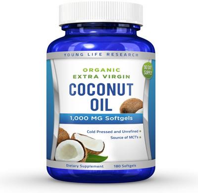 Organic extra virgin coconut oil capsules