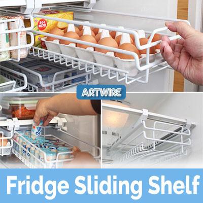 Qoo10 Fridge Sliding Shelf Kitchen