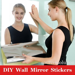 DIY Wall Mirror Stickers/Plastic Plexiglass Soft Mirror/Home Bathroom Decor/Quick installation